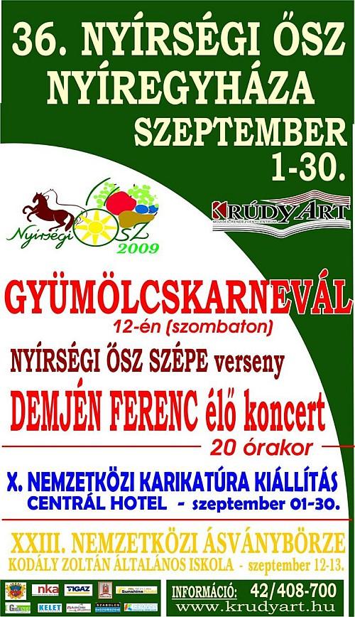 Nyírségi Ősz 2009 programok