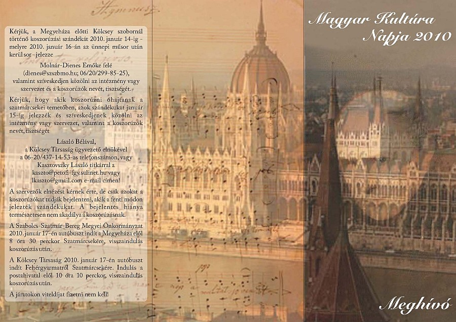 A Magyar Kultúra Napja Nyíregyházán