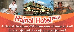 A Hajnal Hotel év eleji programkínálata
