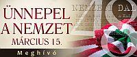 Március 15-i ünnepi megemlékezések Nyíregyházán