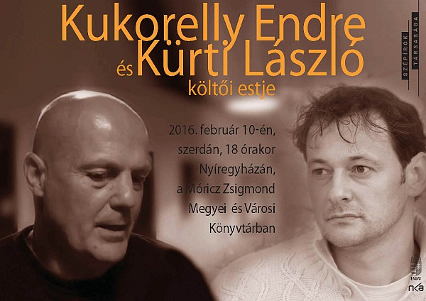 Vörös Postakocsi lapszámbemutató és Költők egymás közt: Kukorelly Endre és Kürti László költői estje