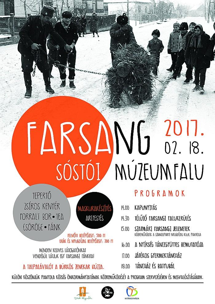 Farsang a Sóstói Múzeumfaluban