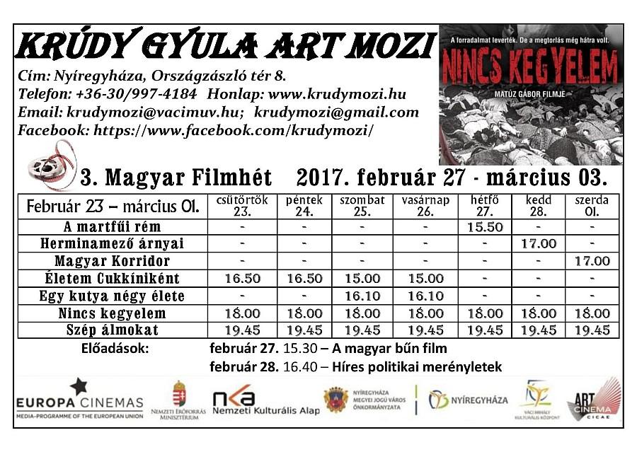 MAGYAR FILMHÉT 2017