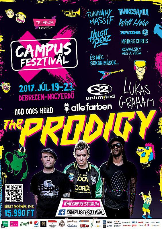 Tíz éves a Campus Fesztivál - Jön a Prodigy