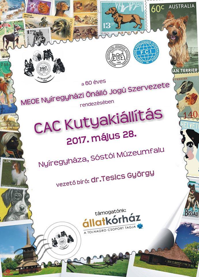 60 éves Jubileumi CAC Kutyakiállítás és Babicz József emlékkiállítás Nyíregyházán a Sóstói Múzeumfaluban