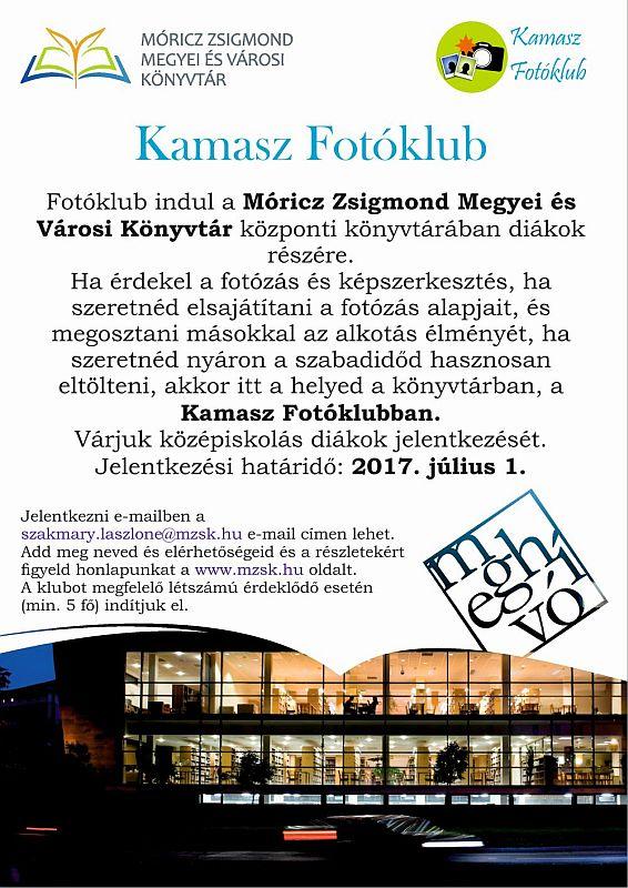 Fotóklub dikákoknak a Móricz Zsigmond Könyvtárban