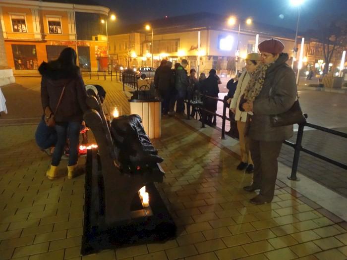 Három szabolcsi városban járt a Hajléktalan Jézus szobra